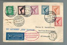 1930 Berlin Germany Graf Zeppelin LZ 127 Cover Switzerland Flight