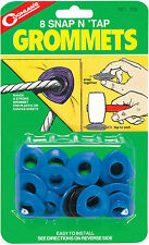 "8 - 1/2"" SNAP-N -TAP GROMMETS 8 PACK EASY TO USE ON CANVAS, PLASTIC OR TARPS!"