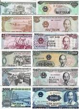 VIETNAM 100 200 500 1000 2000 5000 DONG 1987 1988 1991 P 105 100 101 106 107 108