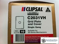 Clipsal Classic C2031 Single / 1 Gang Plate - 10 Bulk Pack GENUINE NEW CLIPSAL