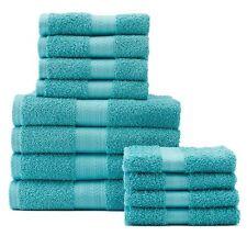 Light Teal Towel Set NEW The Big One 12 PACK Hand & Bath Towels + Washcloths