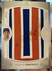 2021 Topps Definitive Collection Nameplates Game Worn Michael Conforto 1/1