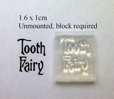 Tooth Fairy Clear Text Stamp - Use For Labels To Attach To Organza Bags