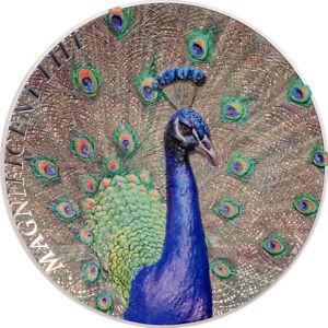 Ek // $5 Îles Cook 2015 1oz Argent : Peacock : NGC PF70