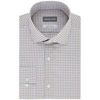 Michael Kors Men's Slim-Fit Non-Iron Check Dress Shirt, Beige, Size M, $85, NwT
