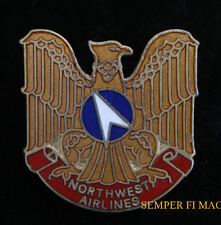 NORTHWEST AIR AIRLINES LOGO HAT LAPEL PIN AIRPLANE EAGLE PILOT CREW WING GIFT