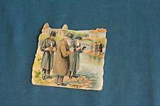 Vintage Judaica Small Die Cuts 1900's Tashlich 2.5 inch prasim rare version