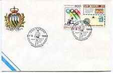 1992-06-27 San Marino Abruzzo Gran premio filatelia sportiva ANNULLO SPECIALE