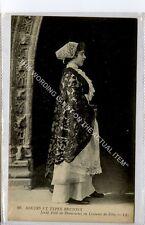 (Ga8797-477) Jeune Fille de Douarnenez en Costume de Fete, France c1910 VG-EX