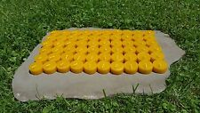 60 - 100% Beeswax Tealight Candle REFILLS, Handmade, All-natural Cotton Wicks