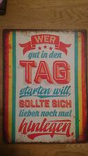 Blechschild - lustige Vintage Deko Schilder - Retro - Küche - Geschenk - 26x35cm