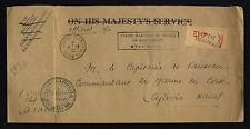 FRANCE1946 LSC OFFICIELLE RECOM BUREAU NAVAL N°74 (ALGER) POUR AJACCIO  (F-N296)