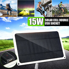 15W Solar Panel Charger Cell Phone MP3 Pad USB Port 5V Portable Outdoor  z g