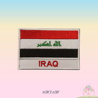 Iraq National Flag With Name Embroidered Iron On Patch Sew On Badge Applique