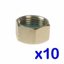 """Lot de 10 X 3/8"""" BSP en Laiton d'obturation bouchon étanchéité machine à laver GAZ PIPE"""