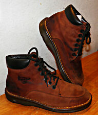 VINTAGE Brown Suede Ankle High Dr Martens Shoes Boots USA 9.5W SOLES GREAT