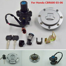 Motorcycle Ignition Switch+Gas Cap Cover Lock+Key Set For 2003-06 Honda CBR600RR