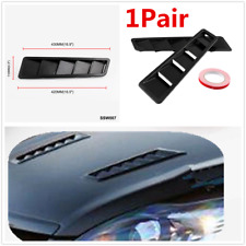 1 Pair Carbon Fiber Look Car Hood Air Vent Louver Panel Trim For All Vehicles