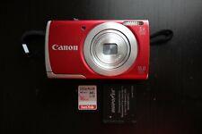 Canon PowerShot A2500 16.0MP Digital Camera, Red
