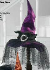 RAZ Imports Halloween Decor - Elegant Witch's Hat Centerpiece Purple #H3229198