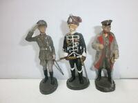 3 alte Hausser Elastolin Massesoldaten Hindenburg Blomberg Mackensen zu 7.5cm