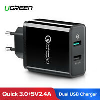 Ugreen Qualcomm Quick Charge 3.0 30W Dual USB Wall Charger for Samsung Xiaomi LG
