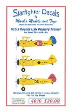 Starfighter Decals 1/48 STEARMAN N25-3 KAYDET U.S. Navy Primary Trainer