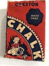 Vtg 1940s Creston Crayon Co 410 School Chalk Box Cardboard With Some Chalk