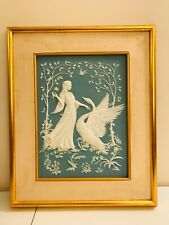 Franklin Mint Porcelain Wall Art Leda and the Swan George McMonigle Incolay