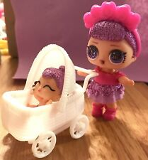 DollHouse Toy Stroller Dolls Big Sis Lil Sister Pets Miniature NO DOLL White LOL