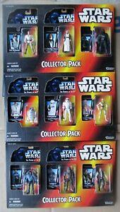 Kenner STAR WARS POTF Set of 3 SEALED COLLECTOR PACKS Luke Vader Han C-3PO