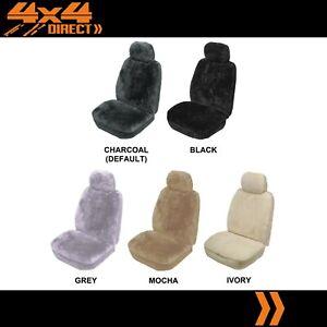 SINGLE 25mm SHEEPSKIN WOOL CAR SEAT COVER FOR DAIHATSU CHARADE CENTRO IV