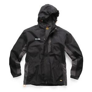 Scruffs T54857 Worker Jacket Black and Graphite Medium Waterproof Lightweight