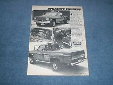 """1973 Chevy C/30 Custom Dually 4x4 Vintage Article """"Dynamite Express"""""""
