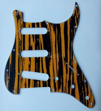 Replacement Part Guitar Pickguard 3-Ply Yellow Sallow for Fender ST Strat Guitar