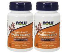 Policosanol 20 mg 90 Veg Capsules (Pack of 2!) - NOW Foods