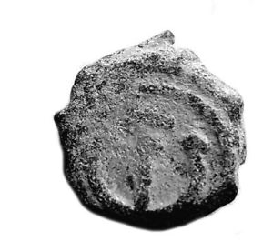 BYZANTINE COIN OF THEODOSIUS II. 408-450AD   #488