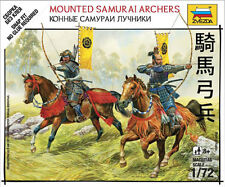 Zvezda Models 1/72 (Snap-Fit) Mounted Samurai Archers (2 Japanese Figures)