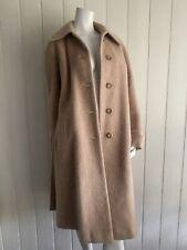 MOFFAT WEARVERS Vintage long Coat Wool Mohair Cotton Beige Biscuit Size 14 10 12