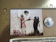 BANKSY Police Pat Down School Girl Sticker Free Shipping Street Art Style