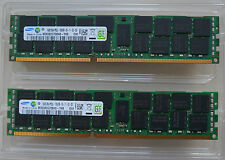 Server RAM 2 x Samsung 16gb 2rx4 pc3l-10600r-09-11-e2-d3 m393b2g70bh0-yh9