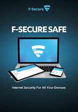 F-Secure SAFE 2017, 5 Multi-Devices, 1 Year Protection (LATEST DOWNLOAD VERSION)