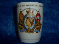 Vintage NEW HALL Queen Elizabeth II Coronation Cup 1953 Brierley Hill Council