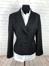 Ann Taylor Gray Striped Wool Blend Blazer size 10 $125