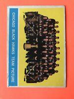 1963-64 Chicago Black Hawks Team Hockey Card Topps #43