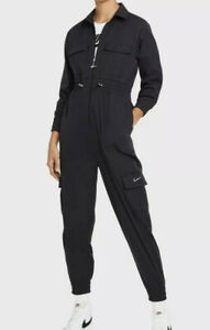 Nike Sportswear Women's Swoosh Utility Jumpsuit Sz XXL Black Romper New