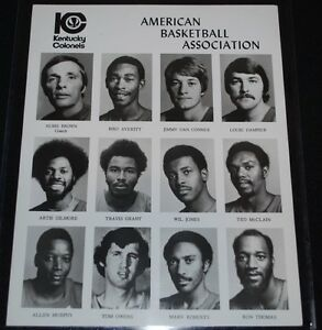 1975-76 Kentucky Colonels Team Issued 8x10 ABA Photo-EX+ Gilmore, Dampier