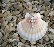 Pilgrim Scallop Shell - with St James Crucifix - Camino de Santiago Pilgrimage