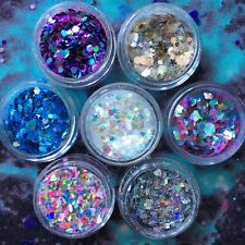 Chunky Mixed Glitter Festival Pot Nails Face Eye Body Tattoo Dance Club Cosmetic