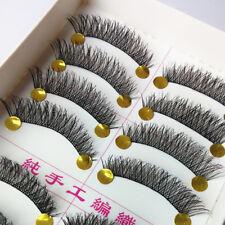 Natural Long Black Handmade 10 Pairs Thick Makeup Fake Eyelashes False Lash#JN89